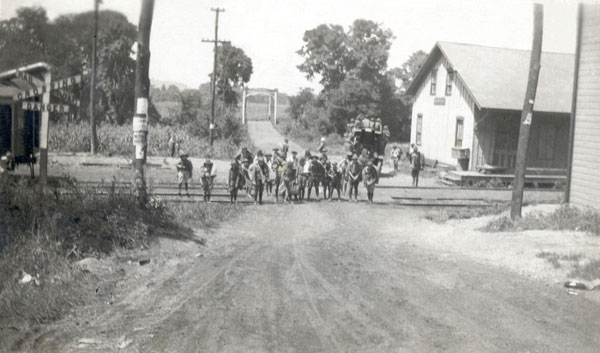 Scouts at Zoarville Station  in 1921