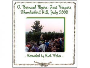 Bernie Myers Vespers DVD