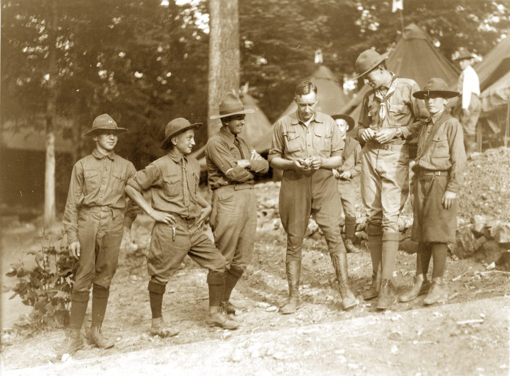 George Deaver teaching scouts in 1924