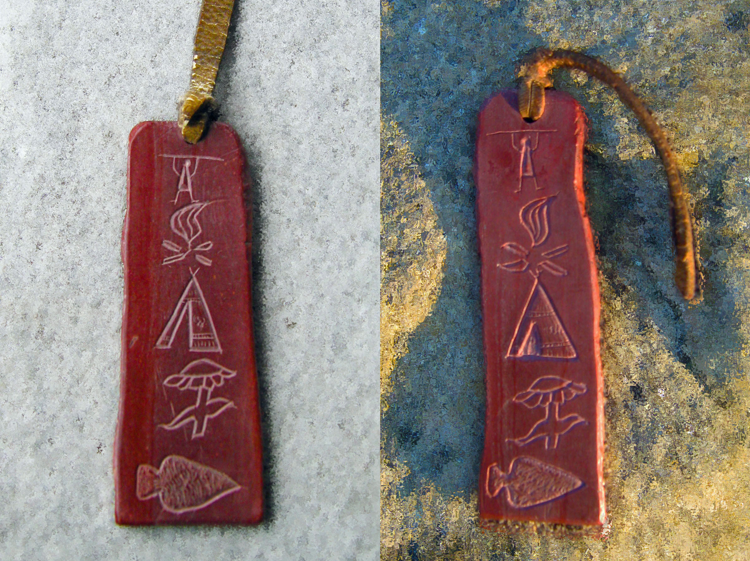 Pipestone tokens from the 1920s