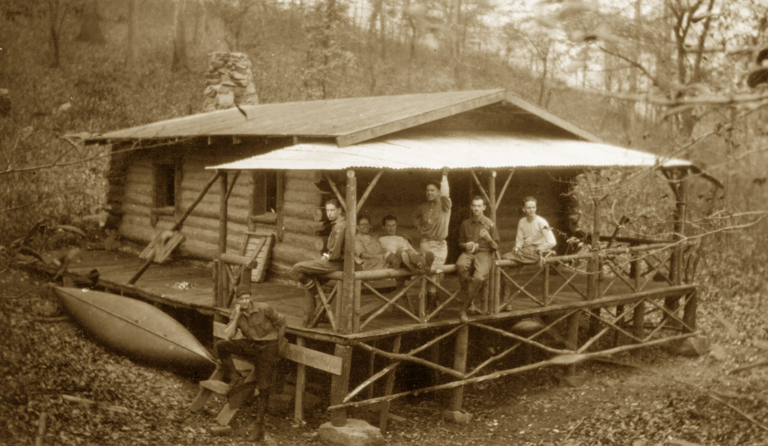 Troop 5 Cabin in 1922