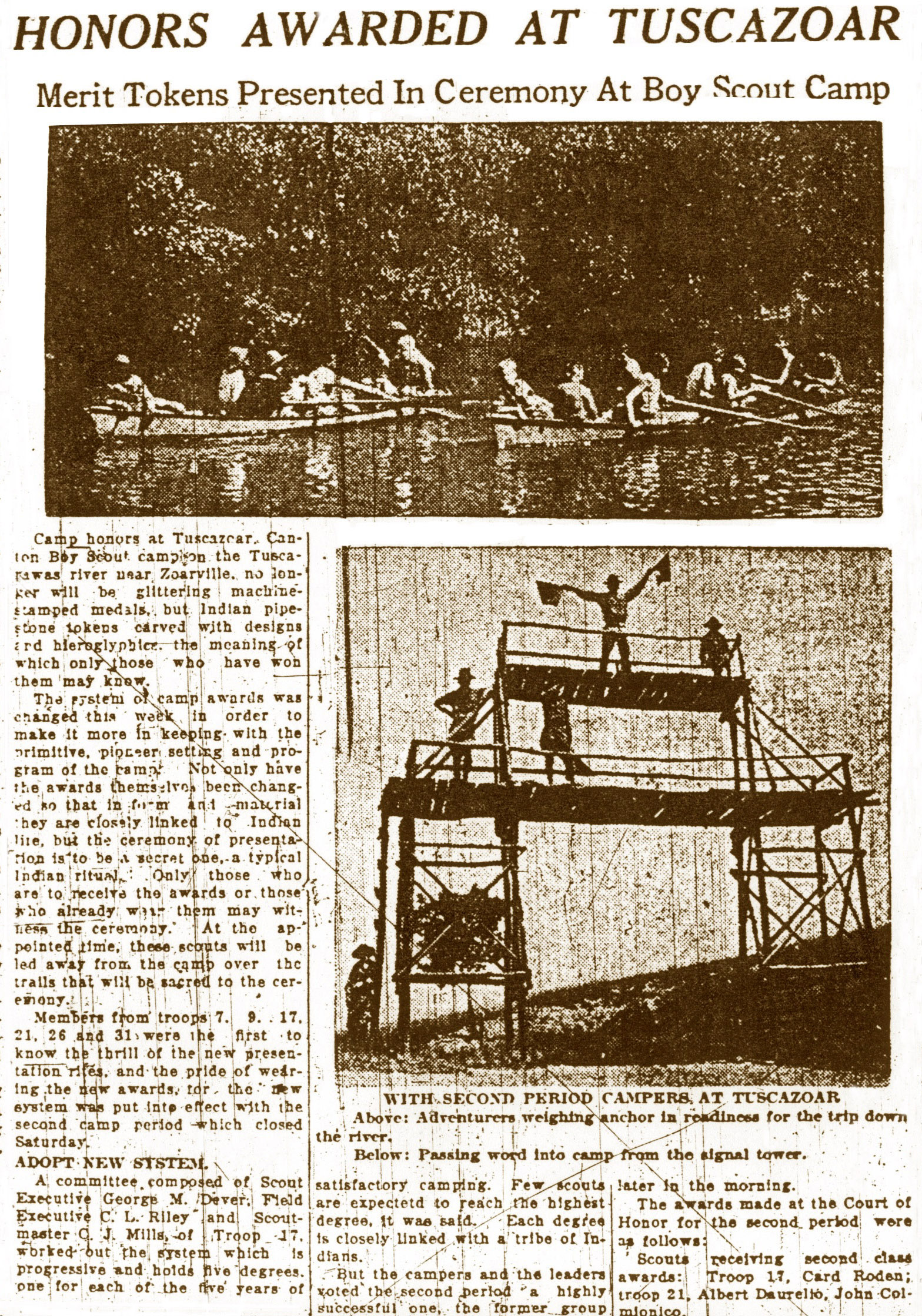 Canton Repository article in July 1926