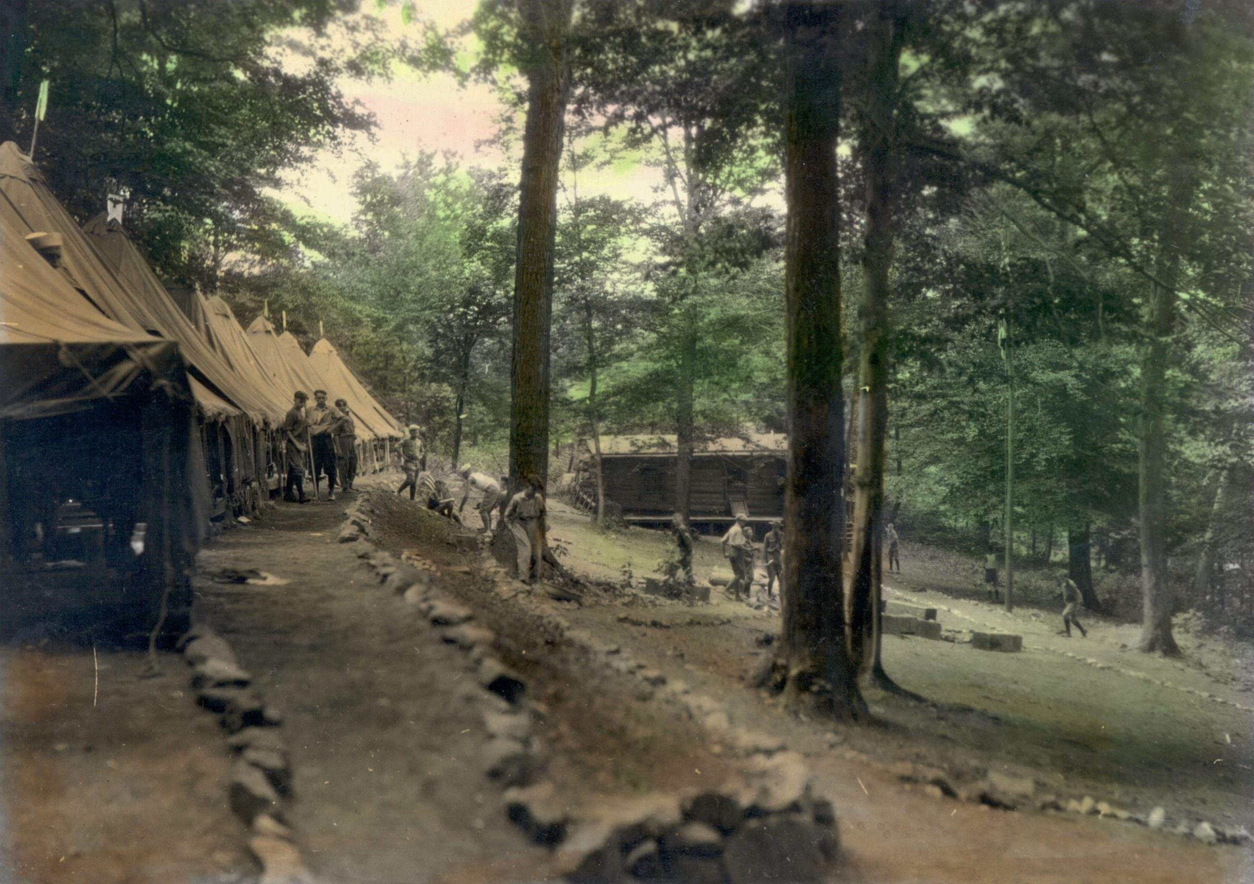Camp Tuscazoar central camp in 1926