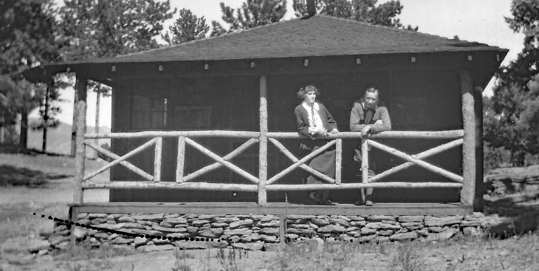 Chief Deaver's Cabin in the 1930s