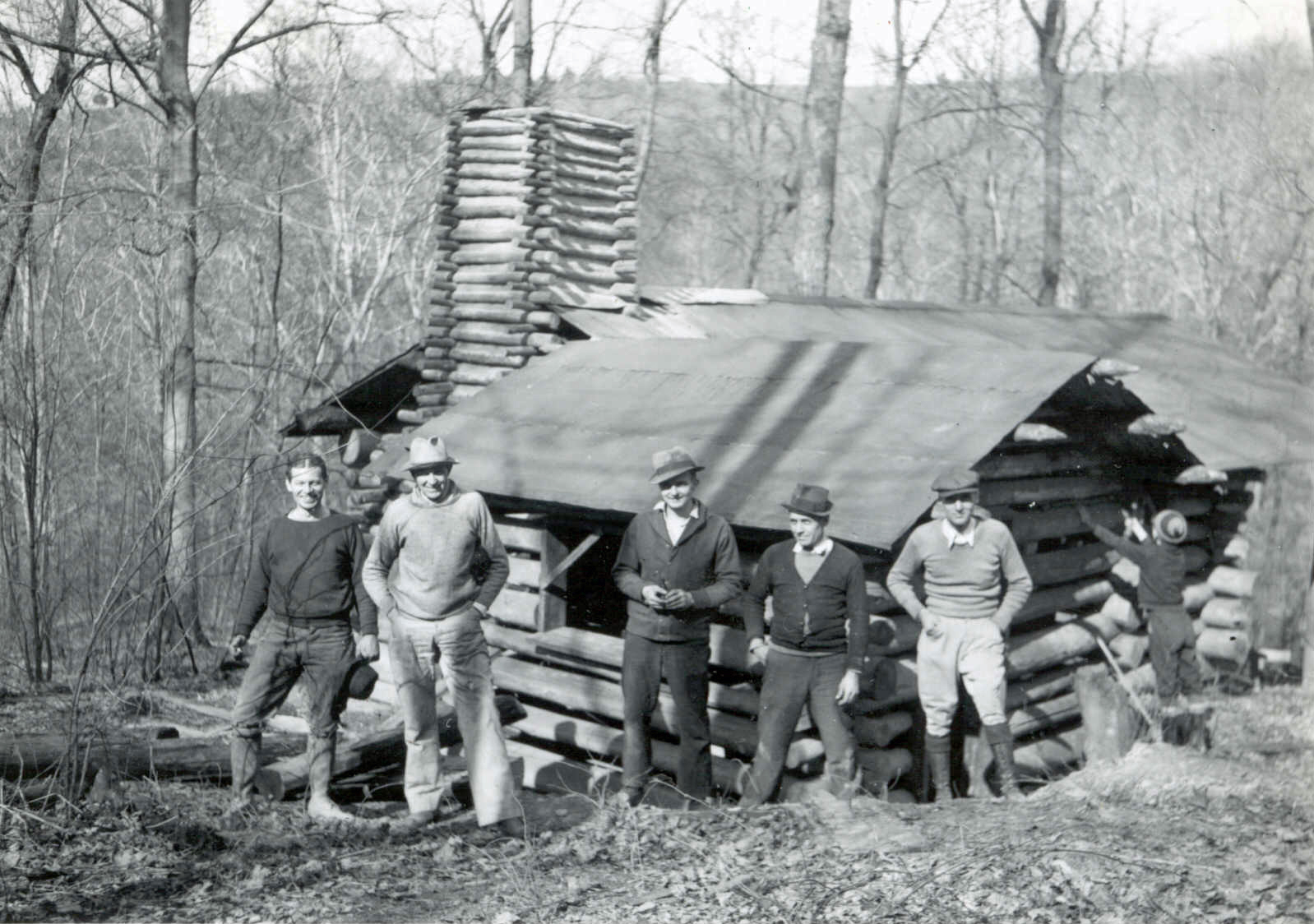 Relocating Troop 5 Cabin in the 1930s