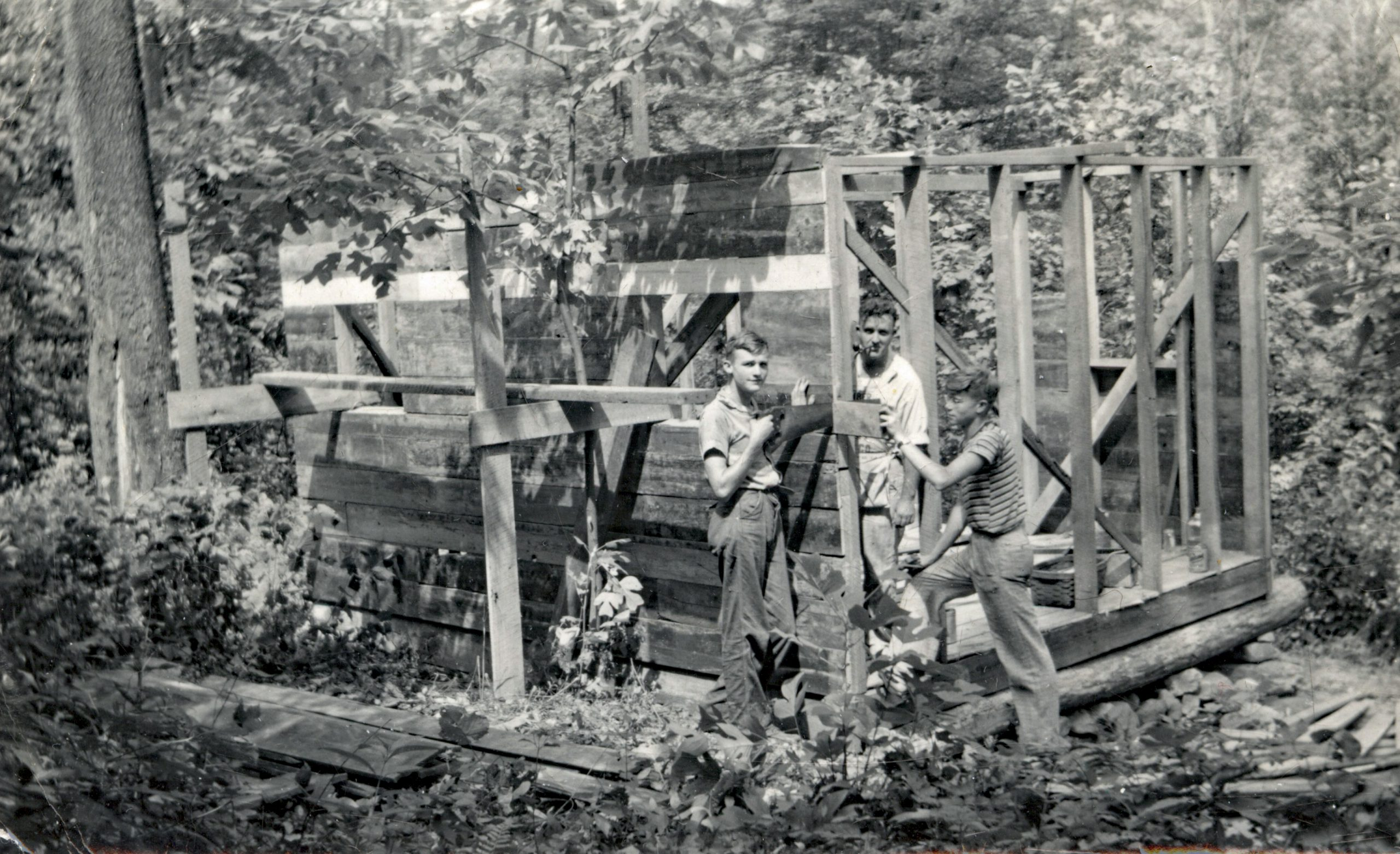 Building Troop 1 Cabin in the late 1930s
