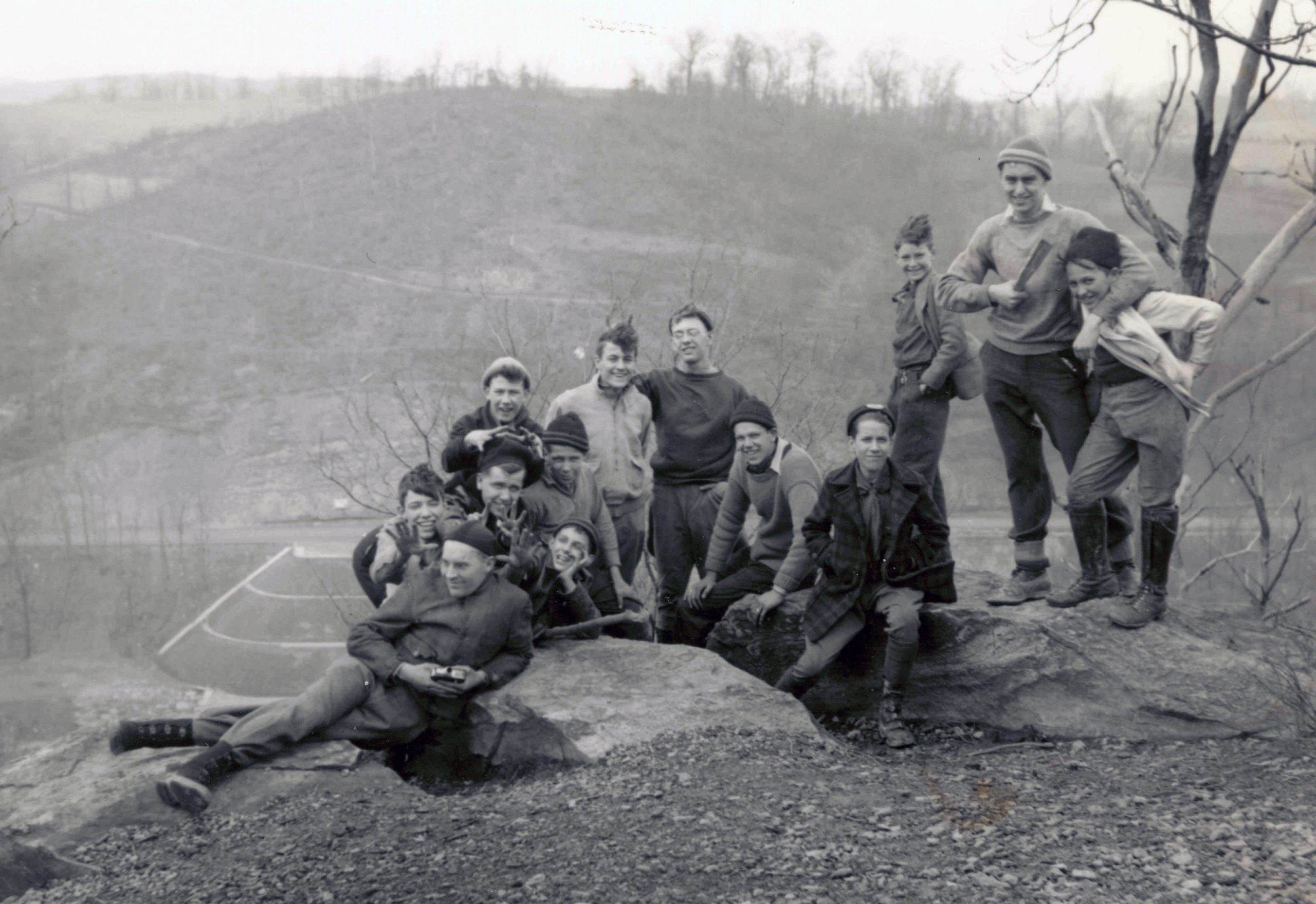 Troop 9 at Buzzard's Roost in 1938
