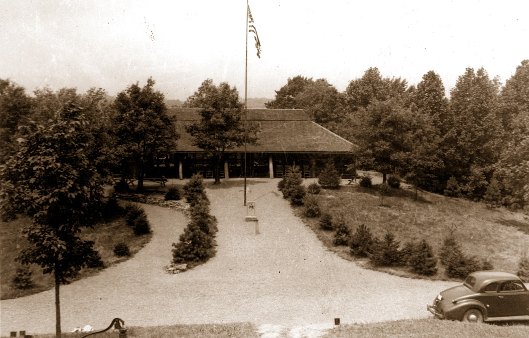 Dining hall in the 1940s