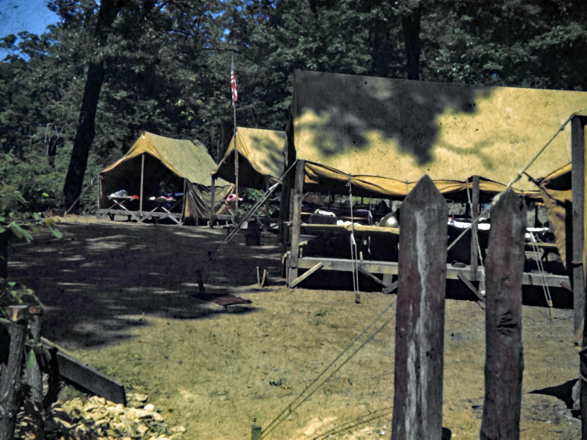 Blackhawk campsite in 1943