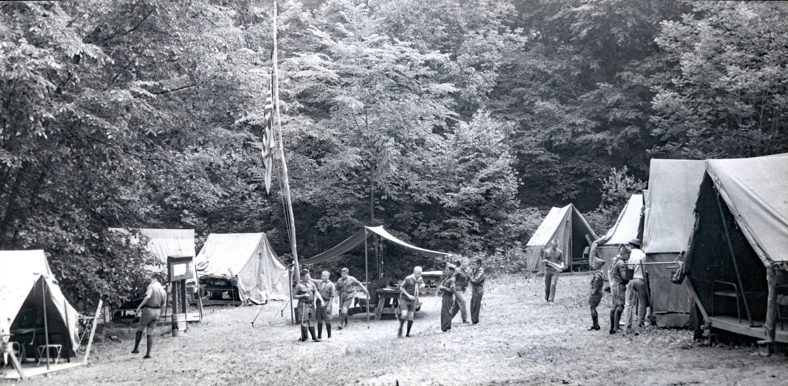 Turkey Campsite in 1945
