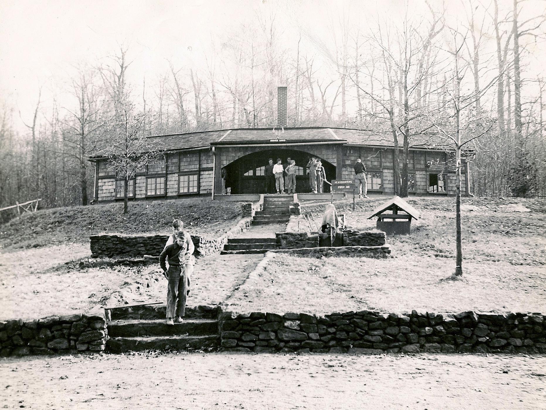 Dan Beard Lodge in the 1947