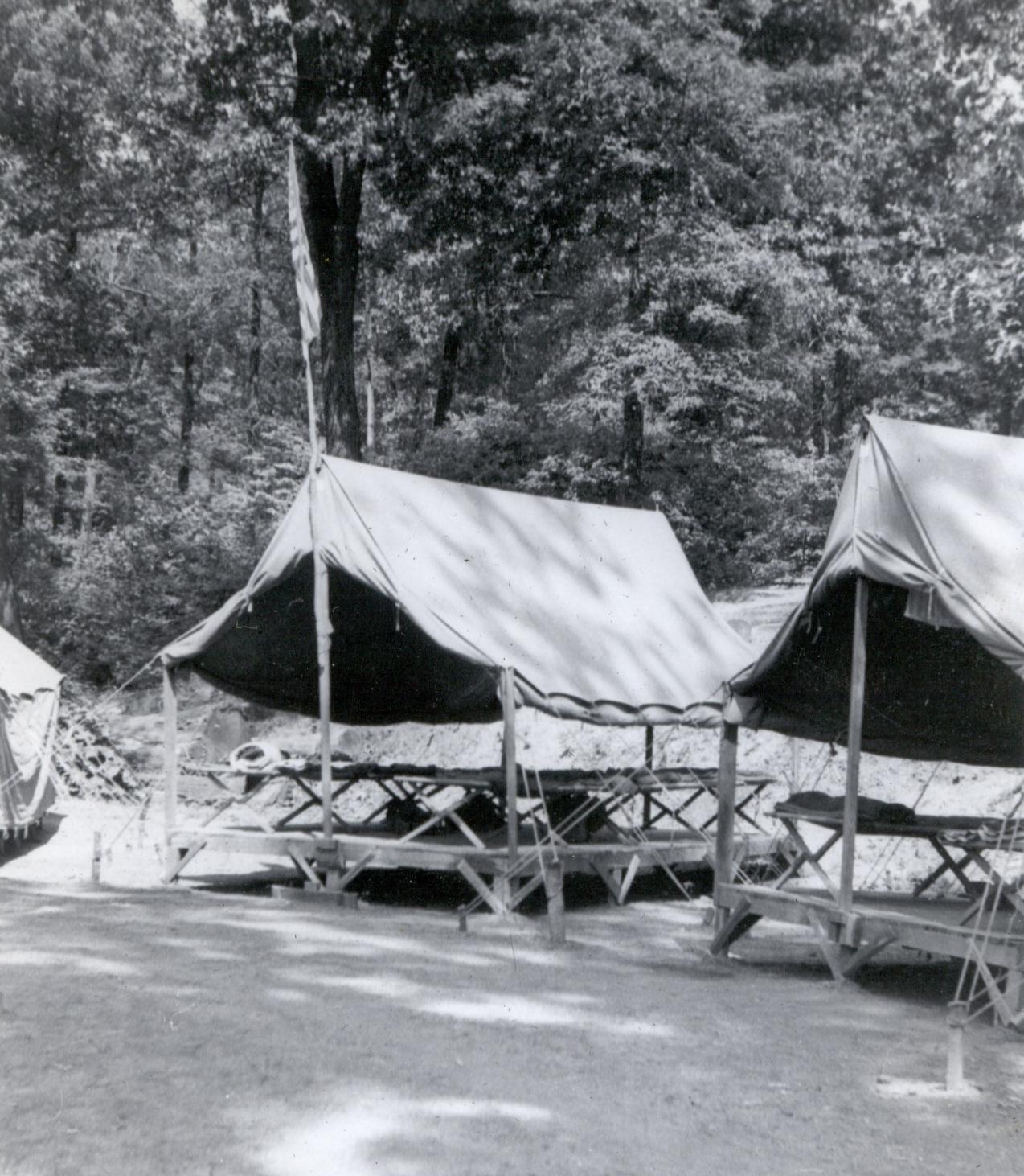 Delaware campsite in 1948