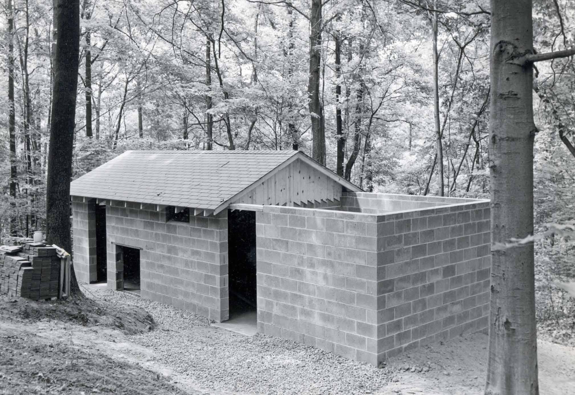 Pipestone building construction in 1954