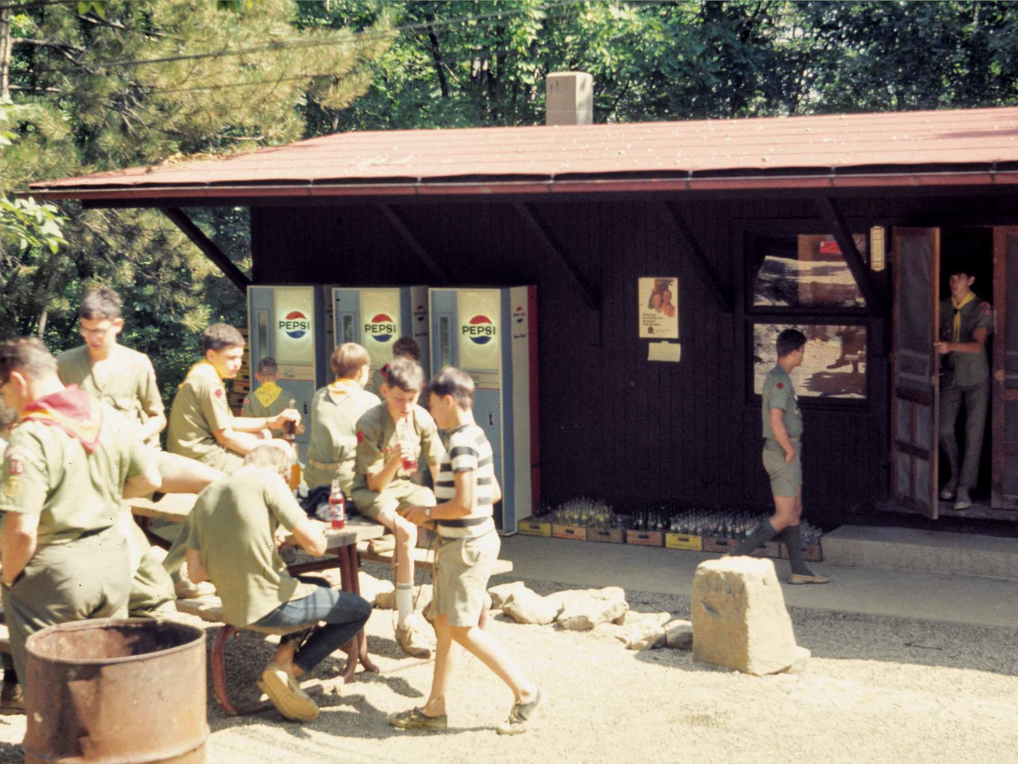 Scouts at the trading post in 1967