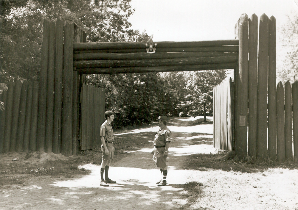 Stockade entrance in 1976