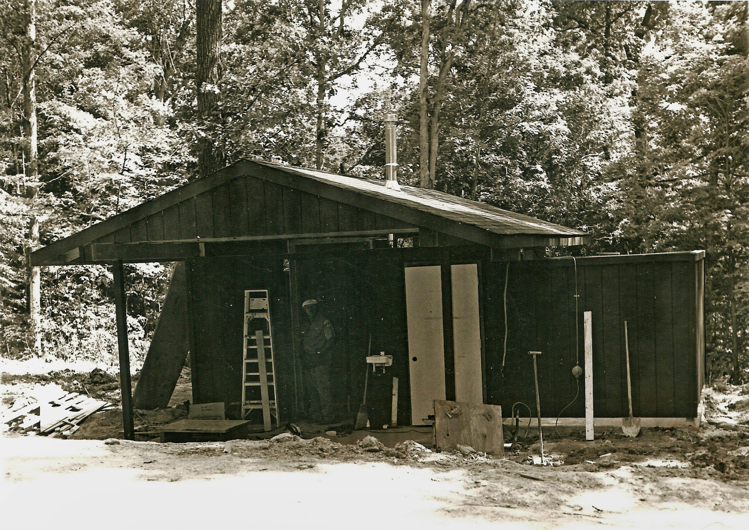 Showerhouse construction in 1979
