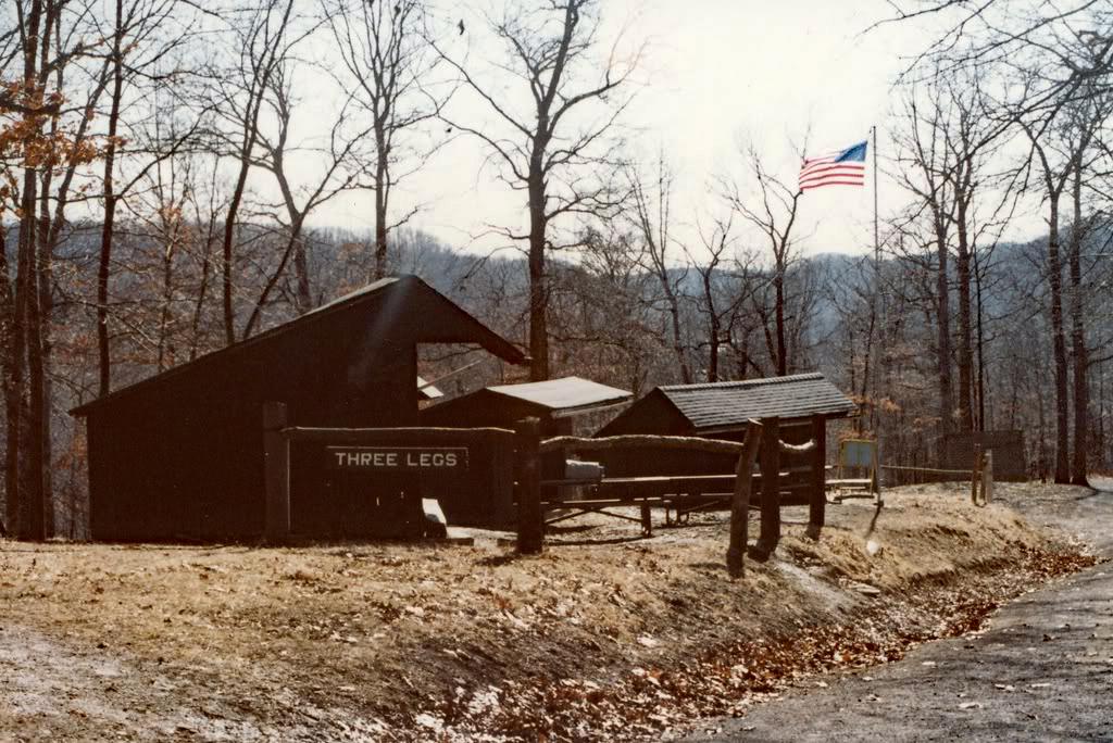 Three Legs campsite in 1981