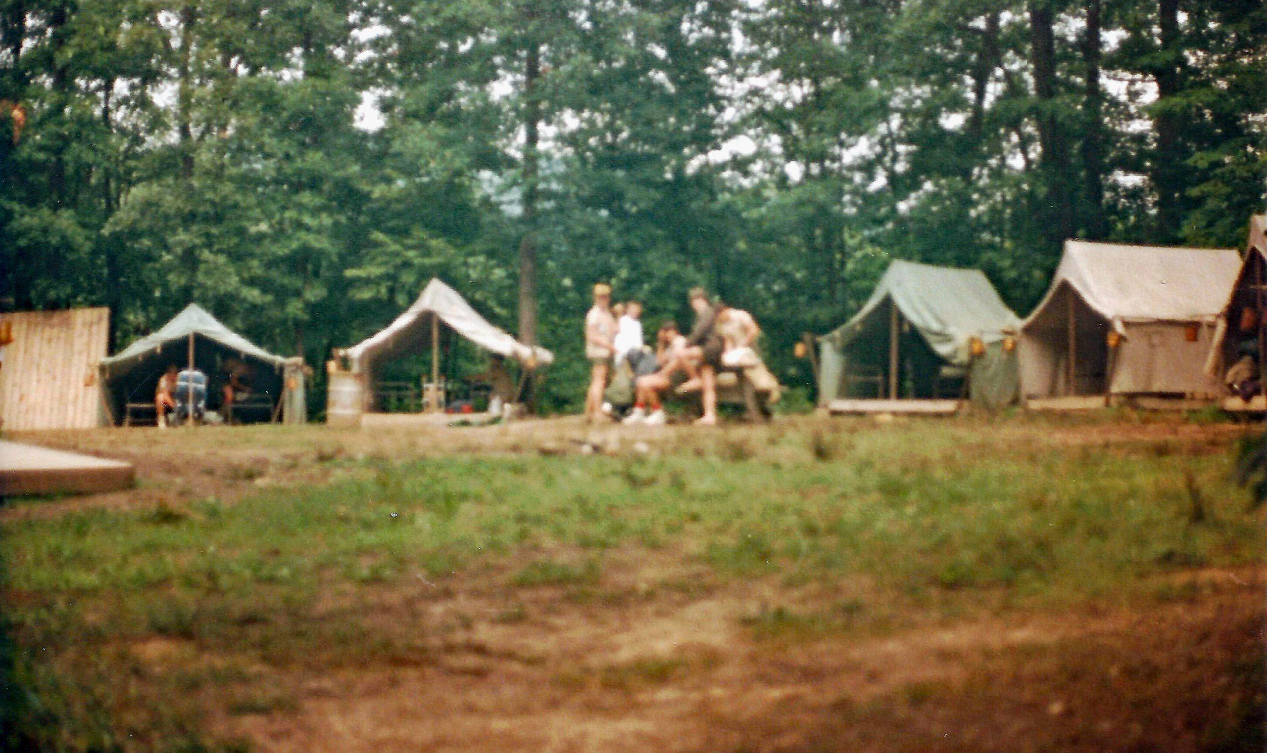 Blackfoot campsite in 1986